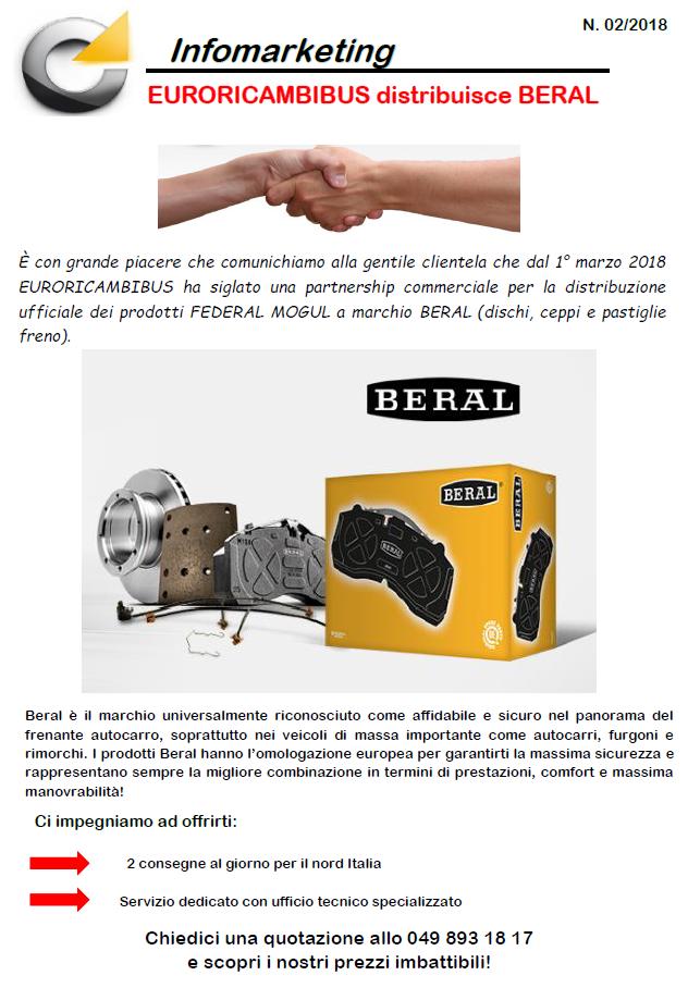 EURORICAMBIBUS distribuisce BERAL