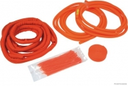 Orange cable guards for hybrid and electric vehicles