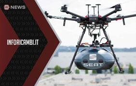 Seat, gli autoricambi volano con i droni