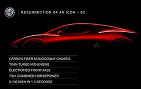Alfa Romeo 8C: mostruosamente potente!