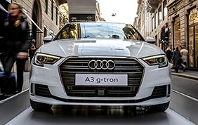 Audi nel quadrilatero della moda milanese con la sua g-tron