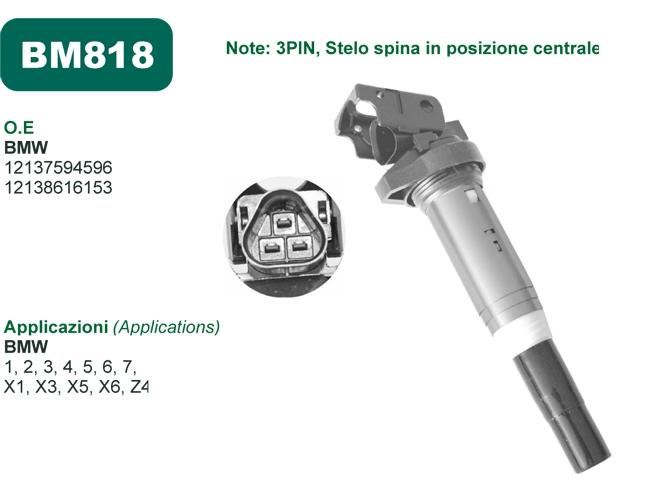 Mecra comunica la disponibilità della Bobina accensione BM818