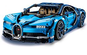 Bugatti Chiron Lego Chiron: oltre 3.500 pezzi