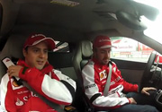 Giro in auto con Massa e Alonso