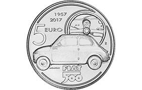 Una moneta celebrativa per i 60 anni di Fiat 500