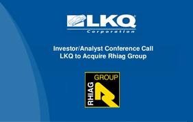 LKQ Corporation completa l'acquisizione di Rhiag