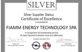 FIAMM premiata per l'eccellenza del servizio