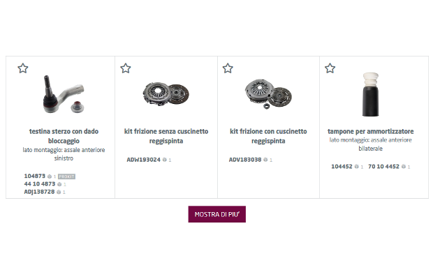 Partsfinder: il catalogo febi, SWAG e Blue Print sempre un passo avanti