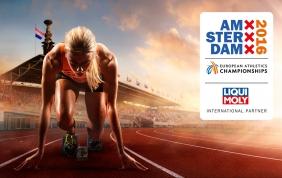 Liqui Moly corre  nel campionato europeo di atletica leggera