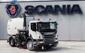 La componentistica della neo spazzatrice stradale di Scania