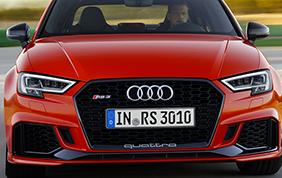 Nuova Audi RS 3: potenza allo stato puro