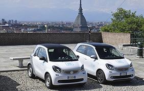 car2go porta a Torino 150 smart forfour