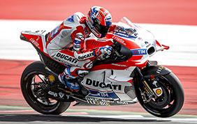 Il Ducati Team primo nei test in Austria
