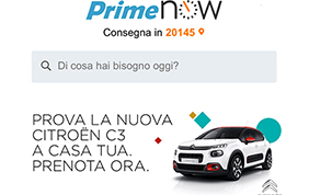 La nuova Citroen C3 viaggia con Amazon Prime Now