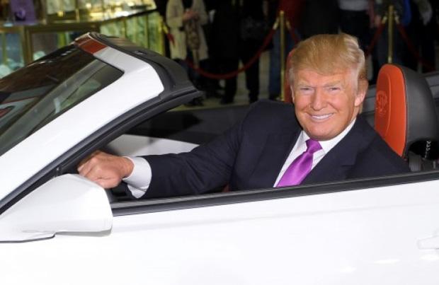 Donald Trump: corsa alla casa bianca in auto di lusso