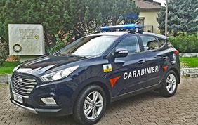 Hyundai ix35 Fuel Cell: l'idrogeno per l'Arma dei Carabinieri