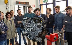 Il nuovo due litri turbo Alfa Romeo all'Università degli Studi Roma 3