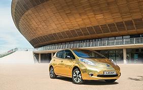Una Nissan Leaf dorata per i Giochi di Rio 2016
