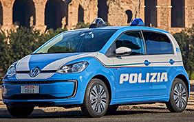 Consegnate quattro Volkswagen e-up! alla Polizia di Stato