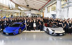 Un nuovo record di produzione per il marchio Lamborghini