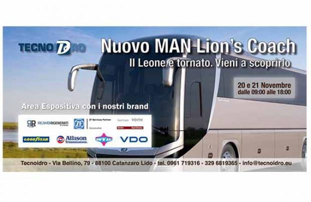 Alla Tecnoidro il nuovo Man Lion's Coach