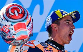 Ad Aragon vince Marc Marquez seguono Dovizioso e Iannone