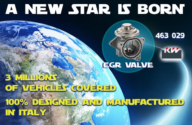 Nasce una nuova stella nella galassia dei prodotti KW: la valvola EGR!