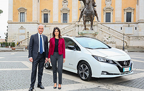 Nuova Nissan Leaf a servizio di Roma Capitale
