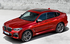 BMW X4 model year 2018: trazione integrale ed efficienza