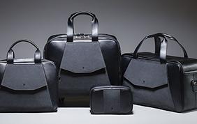 Linea bagagli in Alcantara per lo stile Peugeot