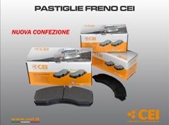 Pastiglie freno CEI  -  Nuove confezioni
