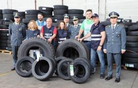 Super sequestro di pneumatici non sicuri