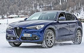 Alfa Romeo pronta per la neve di Madonna di Campiglio