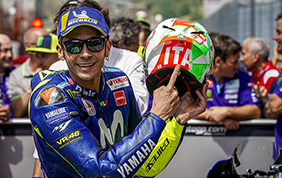 Al Mugello, terzo gradino del podio per Valentino Rossi
