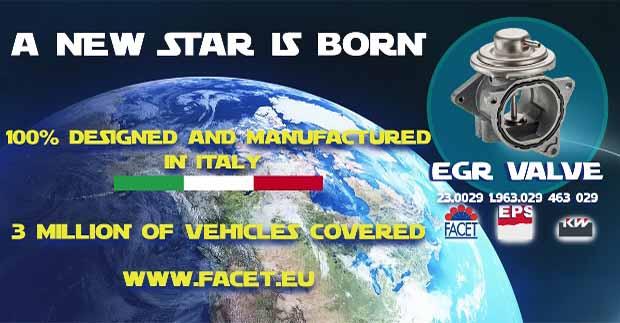 Nuova valvola EGR by Facet