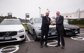 Volvo Car Italia fornitore ufficiale di auto per i giocati della A.S. Roma