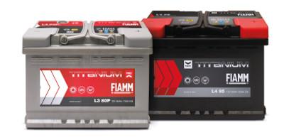 Batterie Avviamento Titanium Pro e Black Titanium per auto e veicoli commerciali leggeri